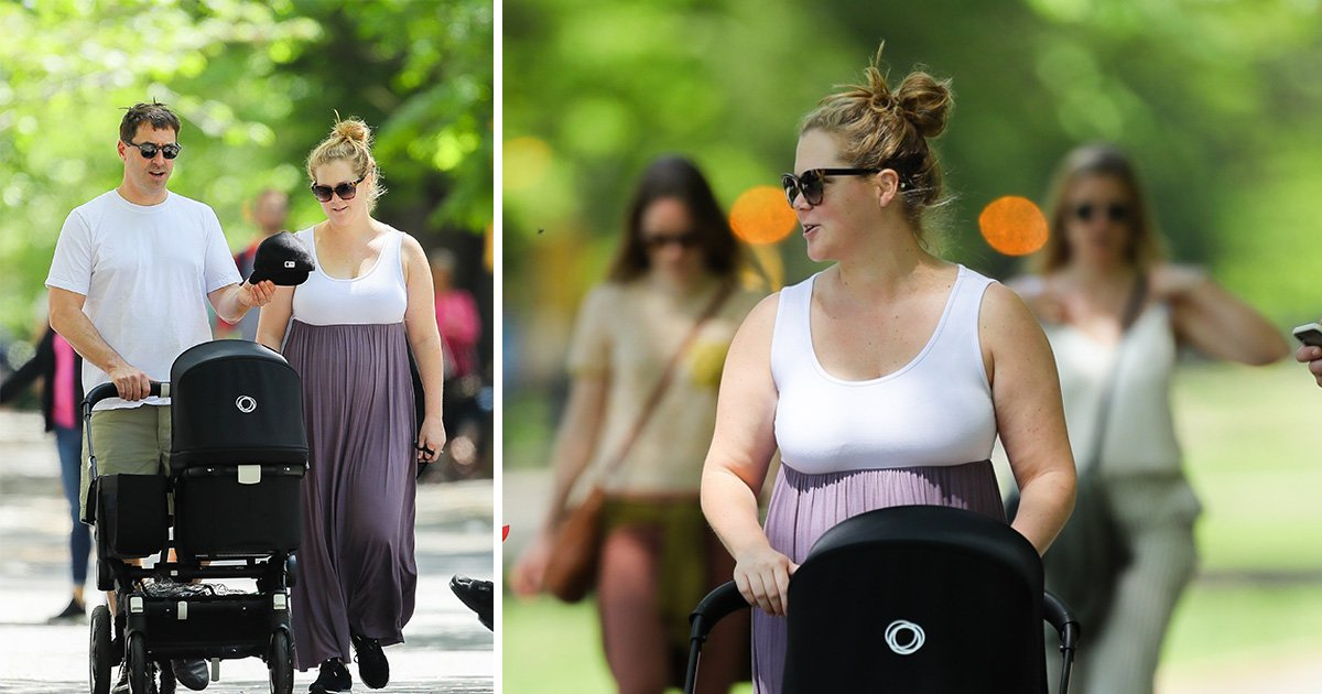 Amy Schumer gets snap happy on stroll with newborn son