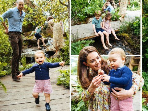 George, Charlotte and Louis visit their mum's garden at Chelsea Flower Show