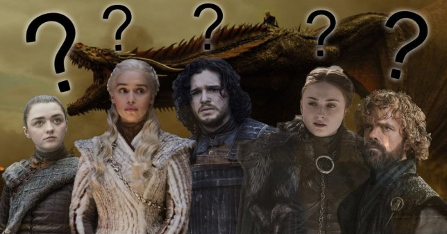 Game Of Thrones cast members Arya Stark, Daenerys Targaryen, Jon Snow, Sansa Stark and Tyrion Lannister