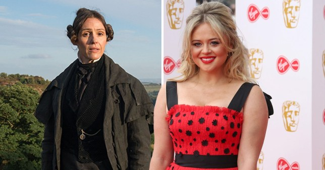 Suranne Jones in Gentleman Jack and Emily Atack on the red carpet
