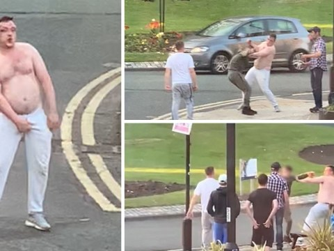 Fight on a roundabout shows you all that Britain has to be proud of