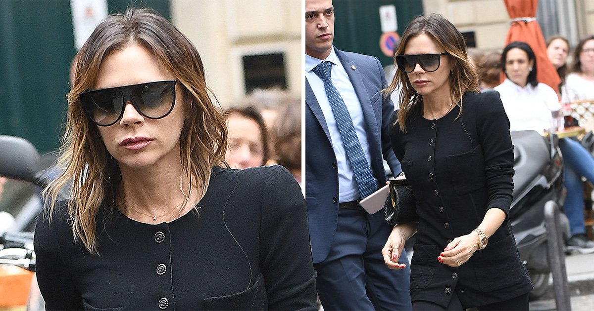 Victoria Beckham puts 'hash plant' T-shirt design shock behind her in fashionable Paris outing