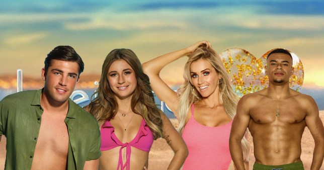 Former Love Island contestants Jack Fincham, Dani Dyer, Laura Anderson and Wes Nelson