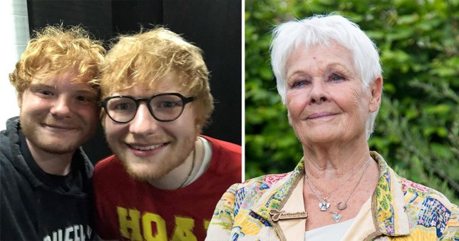 Ed Sheeran pictured with Judi Dench's grandson Sam Williams
