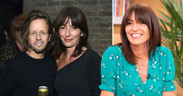 Davina McCall appears on This Morning and pictured with hairdresser Michael Douglas