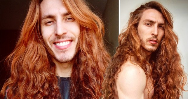 Christian Braga is called real-life Ariel by strangers for his long, flowing red hair