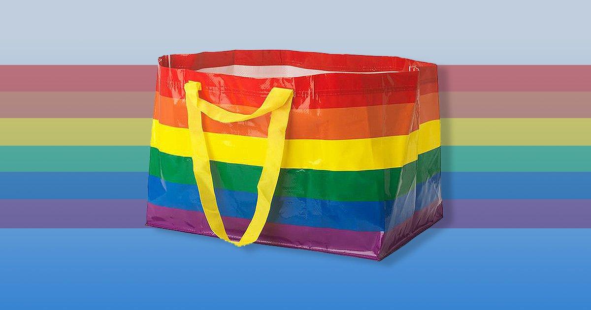 Ikea's big blue bag gets a rainbow version to celebrate Pride