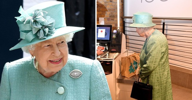 The Queen was fascinated by the self-service till