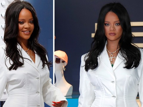 Rihanna rocks all-white look as she celebrates fashion launch with swanky pop-up shop in Paris