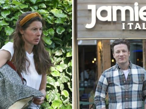 Jools Oliver looks glum as 22 of husband Jamie's restaurants are shut down