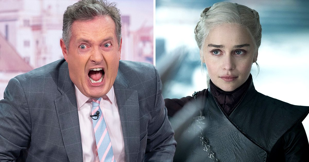 Piers Morgan slates Game Of Thrones for 'promoting a barbaric way of life'