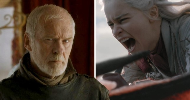 Daenerys and Barristan Selmy in game of thrones
