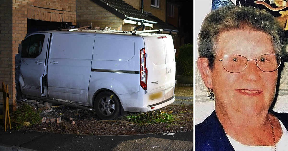 Banned driver jailed for smashing into home and killing pensioner, 90, on phone to son