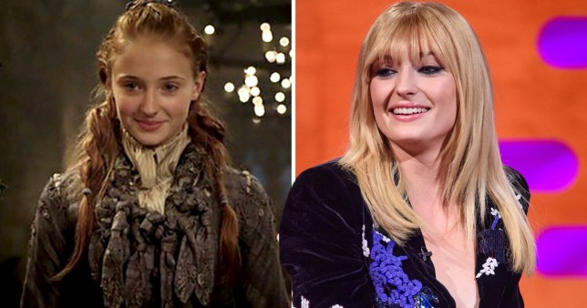 Sophie Turner as Sansa and on the Graham Norton Show