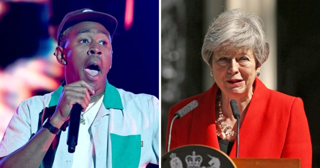 Tyler The Creator celebrates Theresa May's resignation after banning him from the UK