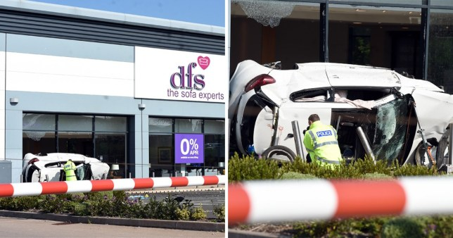 A police pursuit left two critical after crashing into DFS (Picture: SnapperSK)