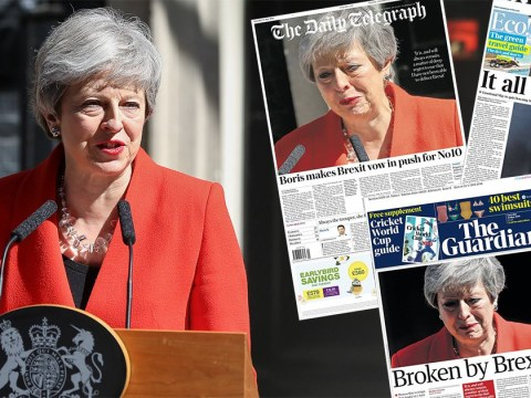 Papers on Theresa May's resignation: A poisonous legacy or surrounded by vipers?