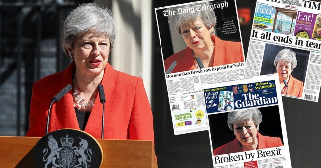 The papers give their verdict on Theresa May's resignation as Prime Minister