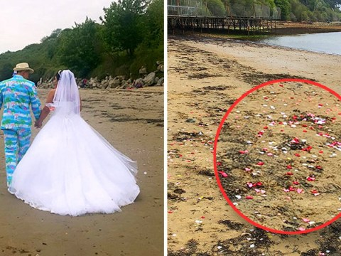 TV show Don't tell the Bride under fire for leaving pristine waters covered in confetti