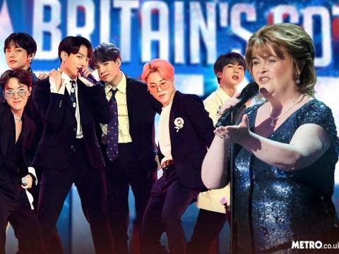 Susan Boyle confirms Britain's Got Talent return as she joins BTS for live shows