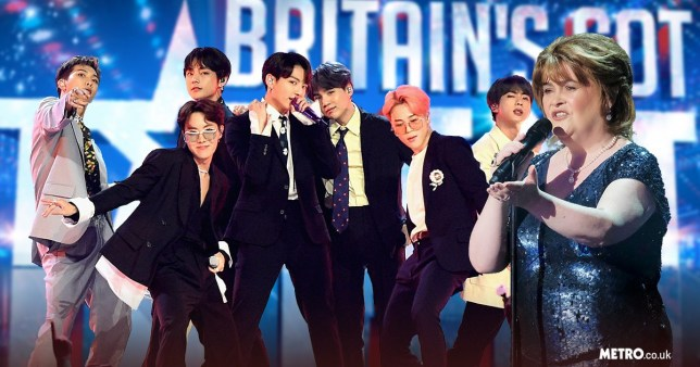BTS and Susan Boyle are heading to Britain's Got Talent