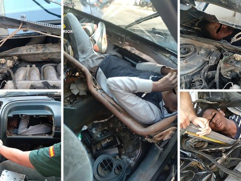 Girl, 15, among four migrants found hidden inside car dashboards and engines