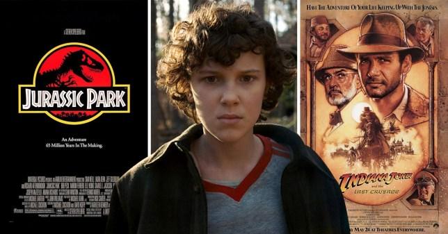Stranger Things / Jurassic Park / Indiana Jones