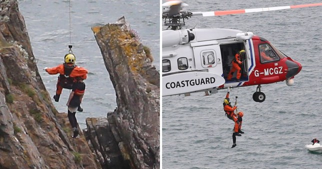 The boys had to be rescued by helicopter (Picture: Apex)
