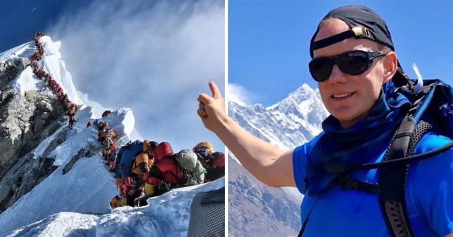 Robin Fisher, 44, had made the summit but died around 150m from the peak of Everest