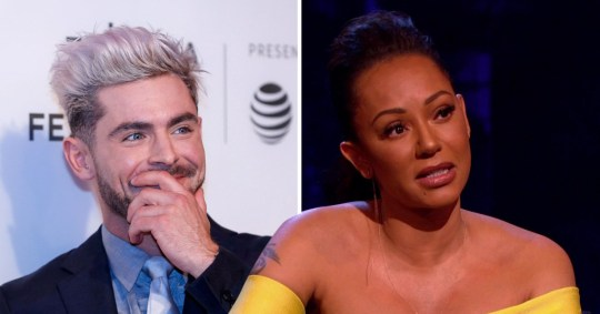 Zac Efron and Mel B