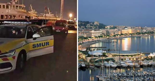 British man, 29, dies in 'horrific' high speed collision between two luxury boats in bay outside the harbour at 9pm on last day of Cannes film festival