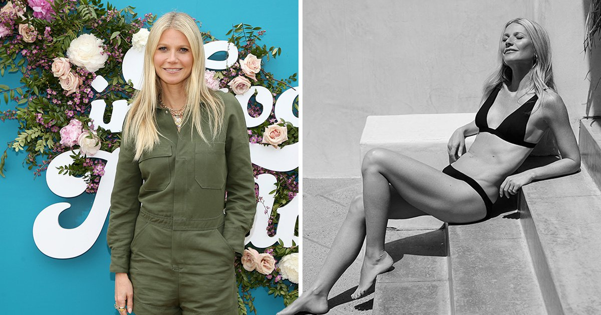 Gwyneth Paltrow is summer ready as she takes Goop bikini modelling into her own hands