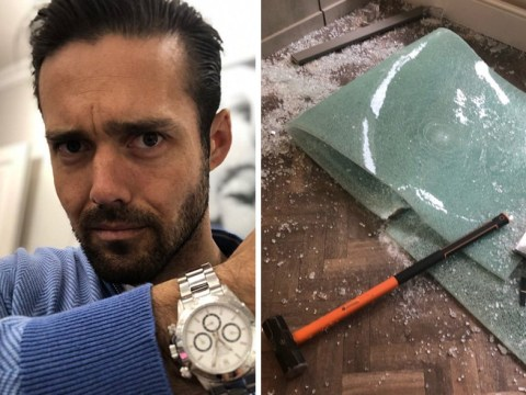 Spencer Matthews forced to hide in vault as jewellery shop is 'smashed to pieces by robbers'