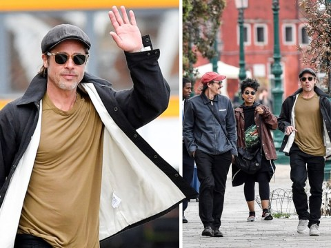 Brad Pitt makes the most of Venice at art exhibition after Once Upon a Time in Hollywood wows at Cannes