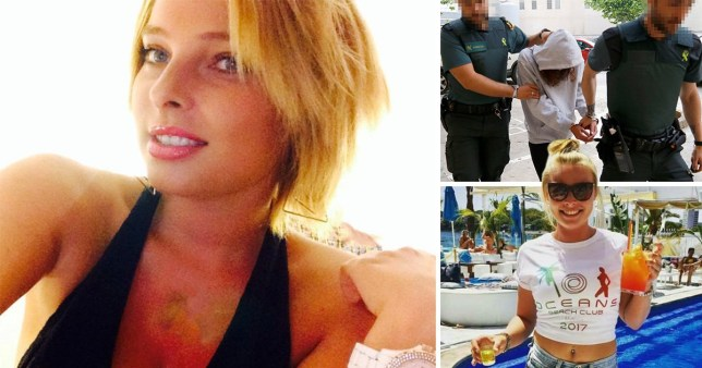 Meghan Tattersall, 25, from Leeds in Magaluf who was run over by Kemi Coaker, 30, from Manchester - ex-wife of boyfriend Andrew Coaker, 41 from Reading