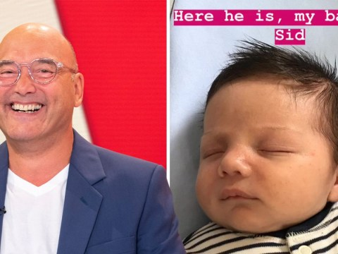 Gregg Wallace is one smitten dad as he introduces baby Sid to the world