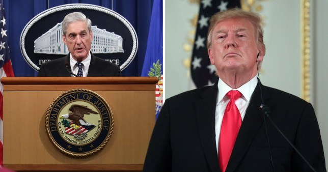 Special counsel Robert Mueller has issued a statement on his investigation into President Donald Trump's 2016 election campaign, and subsequent allegations of obstruction (Pictures: Getty)
