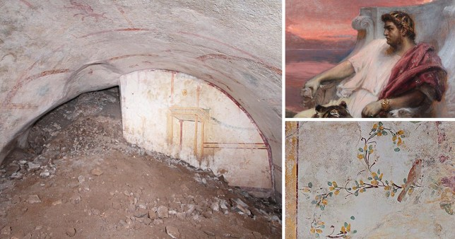 The hidden 'Sphinx Room' discovered below the palace of the Emperor Nero (Archaeological Park of the Colosseum)