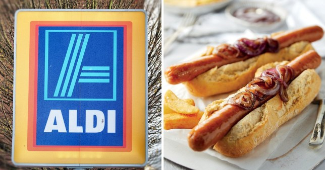 A picture of Aldi's new sausages