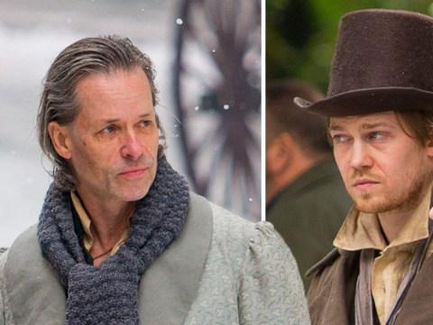 Taylor Swift's boyfriend Joe Alwyn has blast on set as he films A Christmas Carol with Guy Pearce
