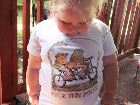 Mum horrified after t-shirt for daughter, 3, turns up with 'f***the police' on it