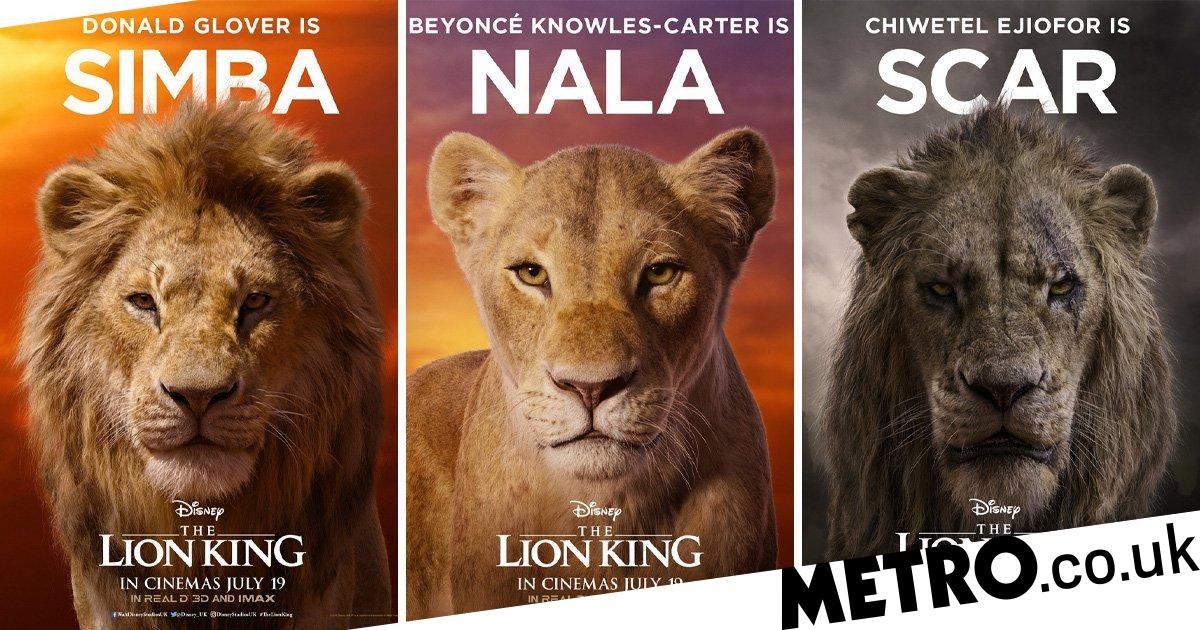 Disney reveals The Lion King character posters and Beyonce ...