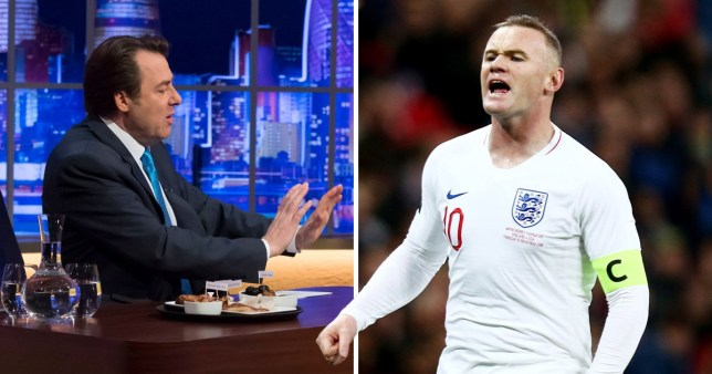 Jonathan Ross and Wayne Rooney