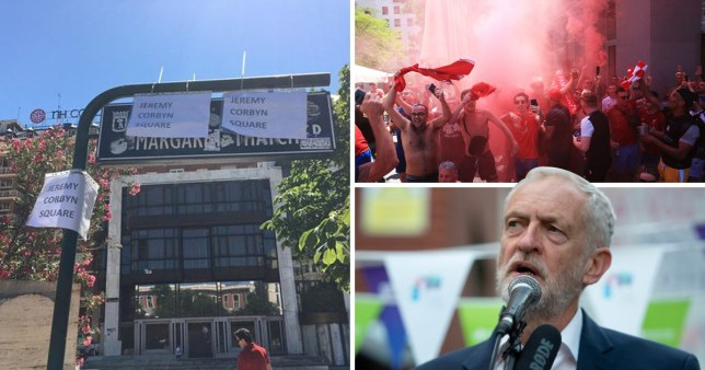 Liverpool fans rename Madrid square before Champions League