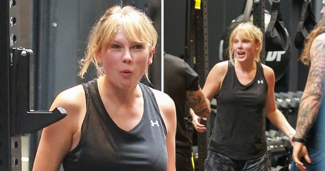 Taylor Swift working out