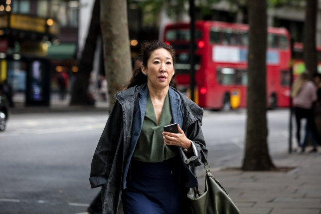 Sandra Oh playing Eve in Killing Eve