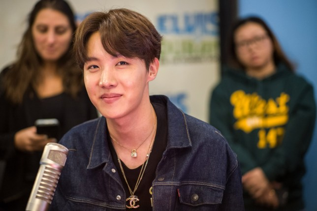 J-Hope of BTS visit The Elvis Duran Z100 Morning Show in New York City as the K-pop group tour the US
