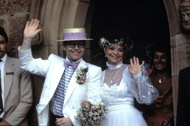 Sir Elton John marries Renate Blauel on Valentine's Day 1984