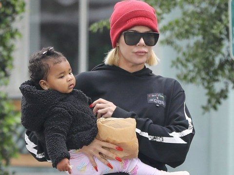 Khloe Kardashian enjoys lunch date with baby True as Tristan's cheating 'brings family closer together'