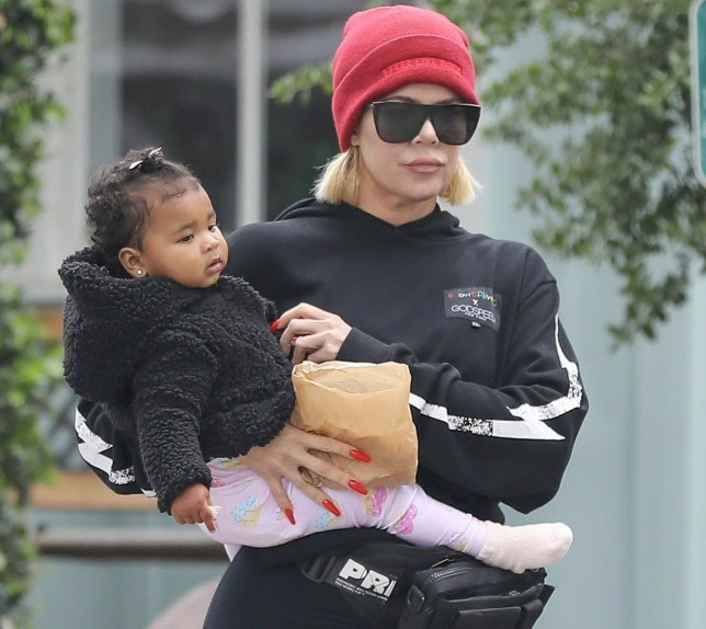 Calabasas, CA - *EXCLUSIVE* Khloe Kardashian takes baby True out for a lunch date in Calabasas. Pictured: Khloe Kardashian, True Thompson BACKGRID USA 30 APRIL 2019 BYLINE MUST READ: JACK / BACKGRID USA: +1 310 798 9111 / usasales@backgrid.com UK: +44 208 344 2007 / uksales@backgrid.com *UK Clients - Pictures Containing Children Please Pixelate Face Prior To Publication*